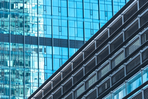 Close-up of modern office buildings