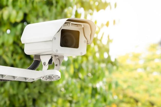 Close up modern public cctv camera