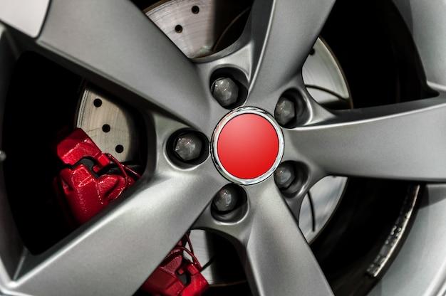Close up of a modern wheel