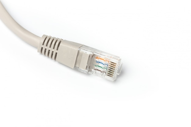 Close up of network cable