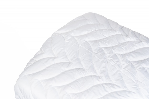 Close up of a new blanket isolated on white background