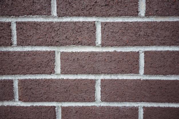Primo piano del nuovo sfondo muro di mattoni