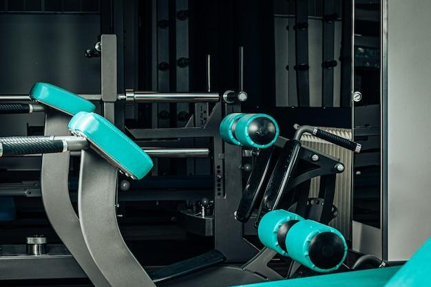 Close up of new gym equipment