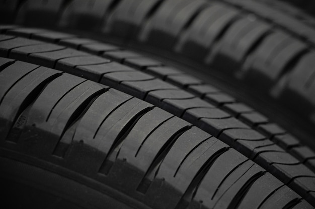 Close-up new tire skin of car. the. driving car concept. safe driving concept.