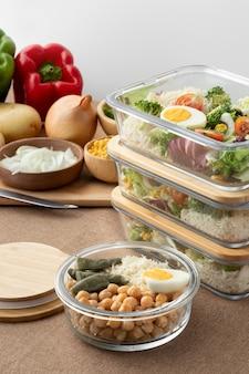 Primo piano sulla nutrizione alimentare e sulla pianificazione dei pasti
