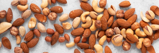 Close-up of nuts arrangement concept