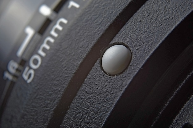Крупный план объектива 50 мм