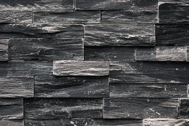 Крупным планом черной неровной стены