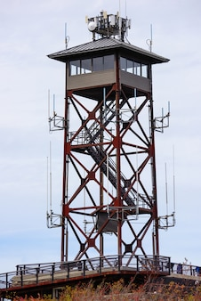 通信塔のクローズアップ