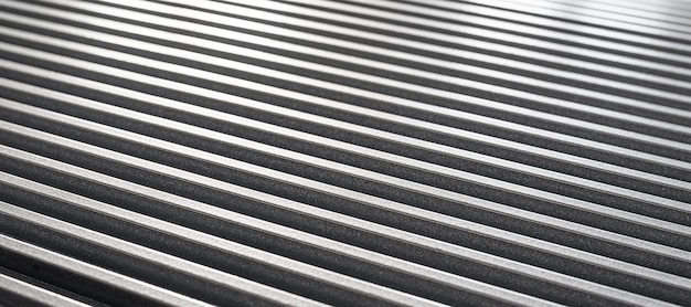 미확인 된 공장 장비의 골판지 금속 표면의 확대 그림. 정교한 장비와 현대 기술의 개념. 주방 기기 생산 컨셉