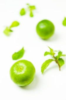 Close-up of a green lime
