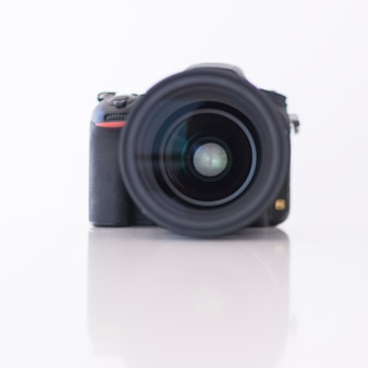 Close-up of a modern digital dslr camera