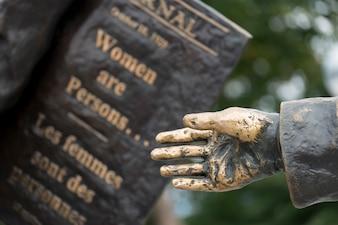 オタワ、オンタリオ州、カナダ、有名な五議院丘での像のクローズアップ