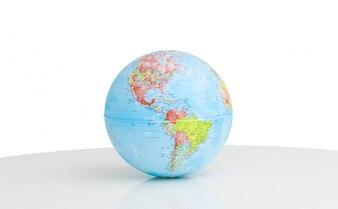 Close up of a terrestrial globe