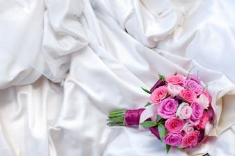 Close-up of a wedding bouquet