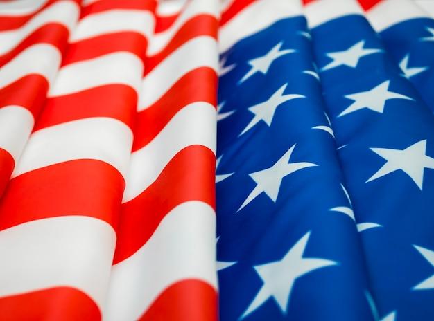 미국 국기 배경 클로즈업