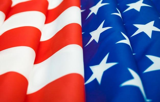 Крупным планом американского флага