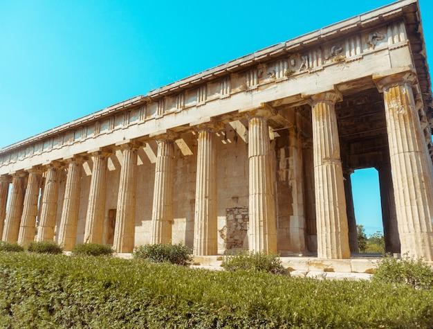 고대 그리스 유적의 클로즈업