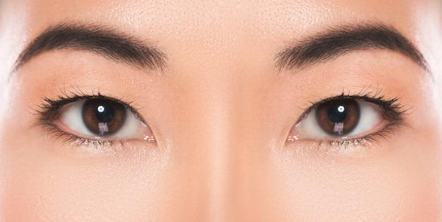 アジアの目の拡大図。