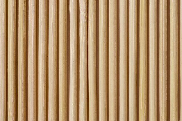 Крупный план бамбуковой циновки стола