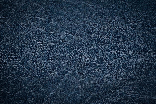青い革の質感のクローズアップ