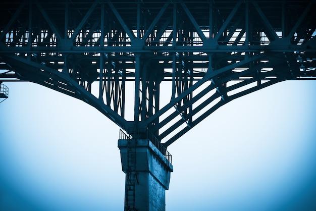 다리 구조의 클로즈업, 충칭 양쯔강 다리