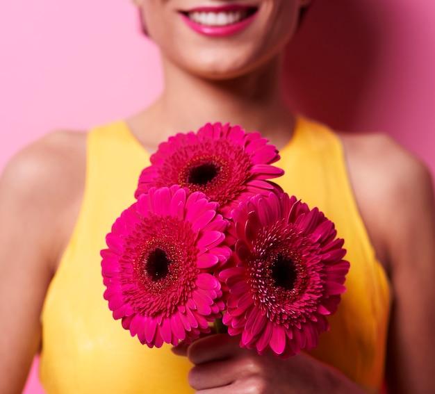 束の香りの花のクローズアップ