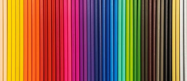 色鉛筆の背景のクローズアップ