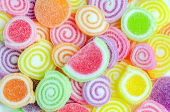 Close up of colorful candies texture background