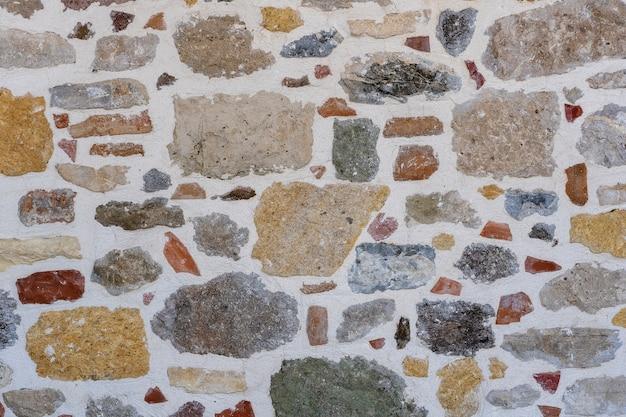 コンクリートの壁の背景のクローズアップ