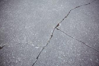 Close-up of cracked asphalt road background