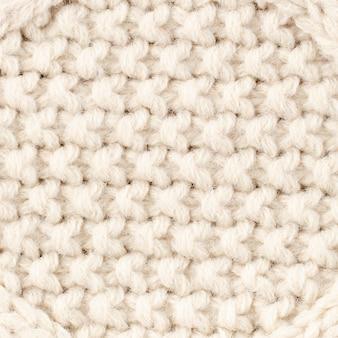 Крупный план кремового цвета шерсти