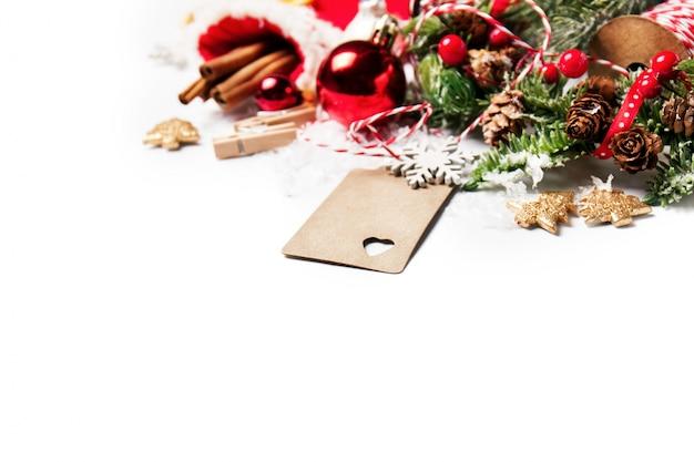 크리스마스 장식의 클로즈업
