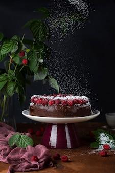 Крупный план вкусного десерта