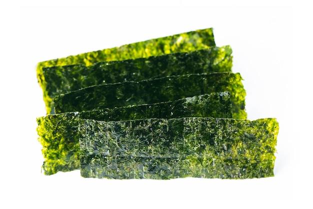 乾燥海藻のクローズアップ