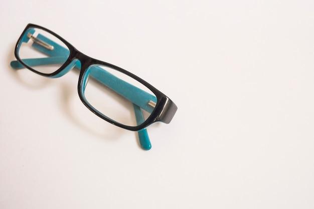 우아한 안경의 클로즈업