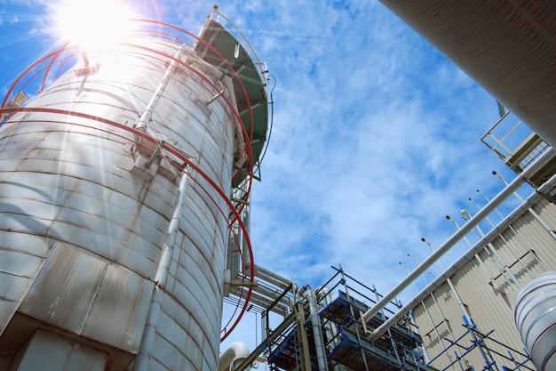 Закройте оборудование и трубопровод на промышленном предприятии, производственном предприятии нефтехимии.