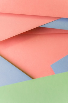 Close-up of fashionable pastel colored paper backdrop