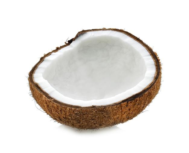 신선한 익은 코코넛의 클로즈업