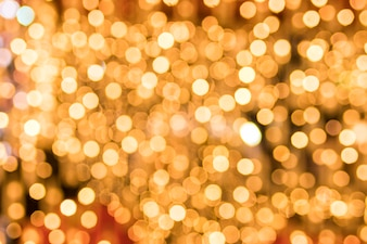 Close-up of glowing golden bokeh background