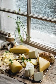 제공 될 준비가 미식가 치즈의 클로즈업