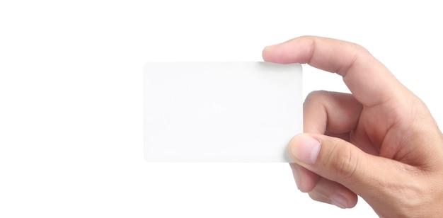 가상 카드를 들고 손 클로즈업