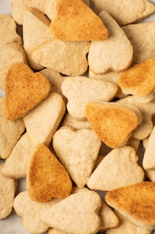 ハート型のクッキーのクローズアップ