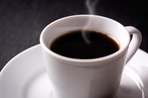 ホットコーヒーのクローズアップ