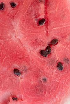 Крупным планом внутренней части арбуза
