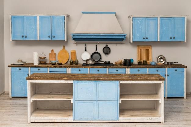 Крупный план интерьера квартиры кухни