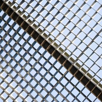 金属グリッドのシームレスパターンのクローズアップ