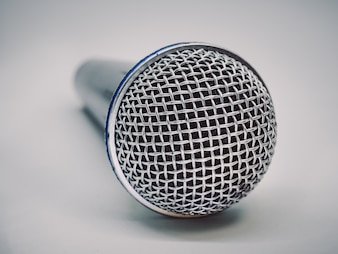Close up of microphone for karaoke room or conference room.