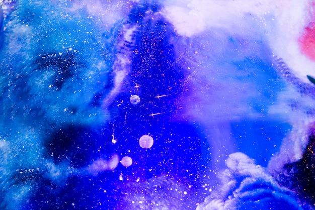 星と宇宙の宇宙塵と天の川銀河のクローズアップ。スペースの背景