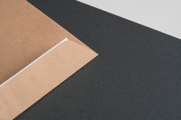 Крупный план минималистского бумажного материала